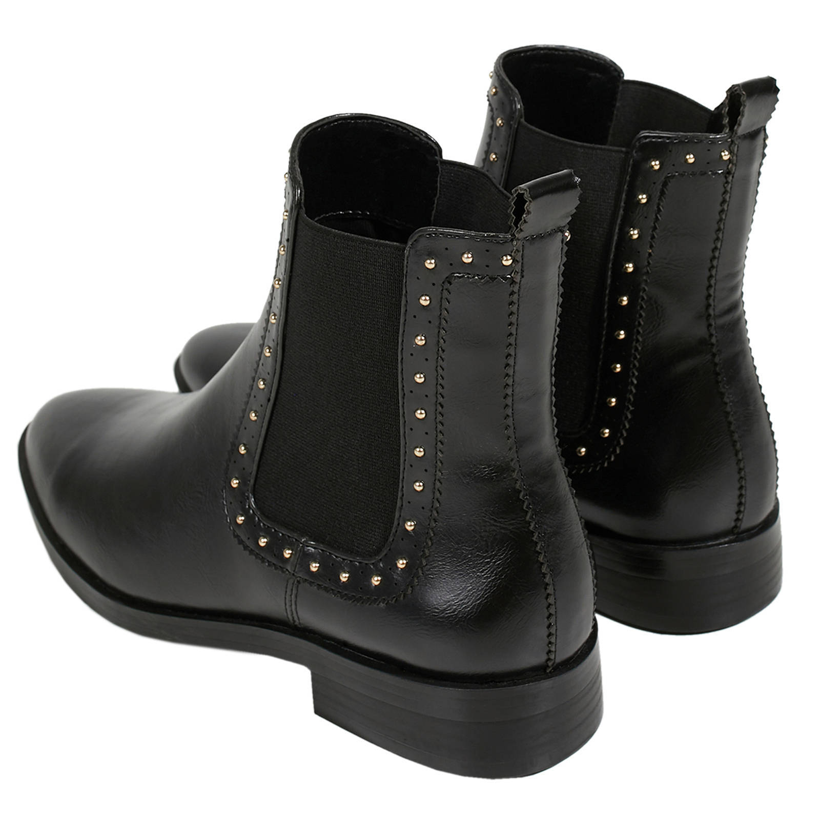 Parfois laarzen met studs zwart | wehkamp