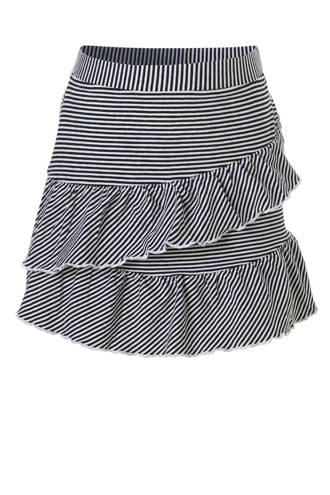 gestreepte rok zwart/wit