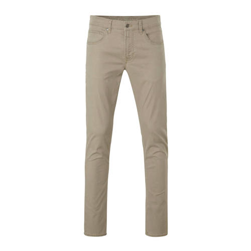 MAC slim fit broek beige