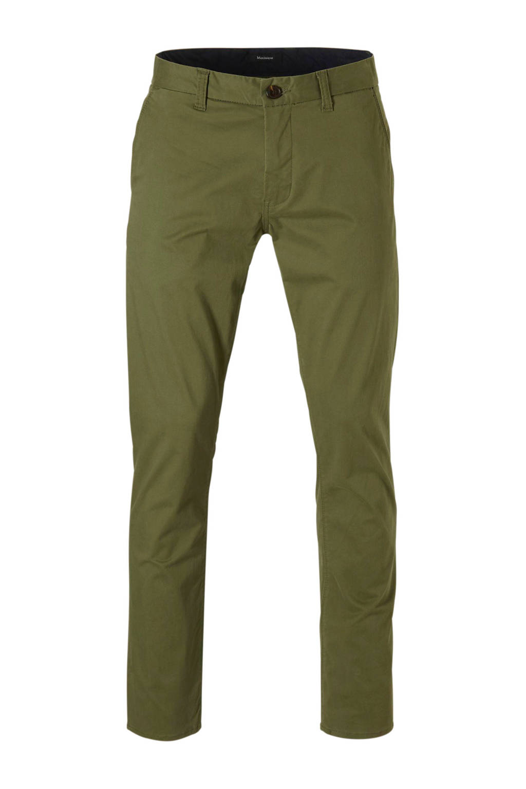 Matinique slim fit chino, Khakigroen