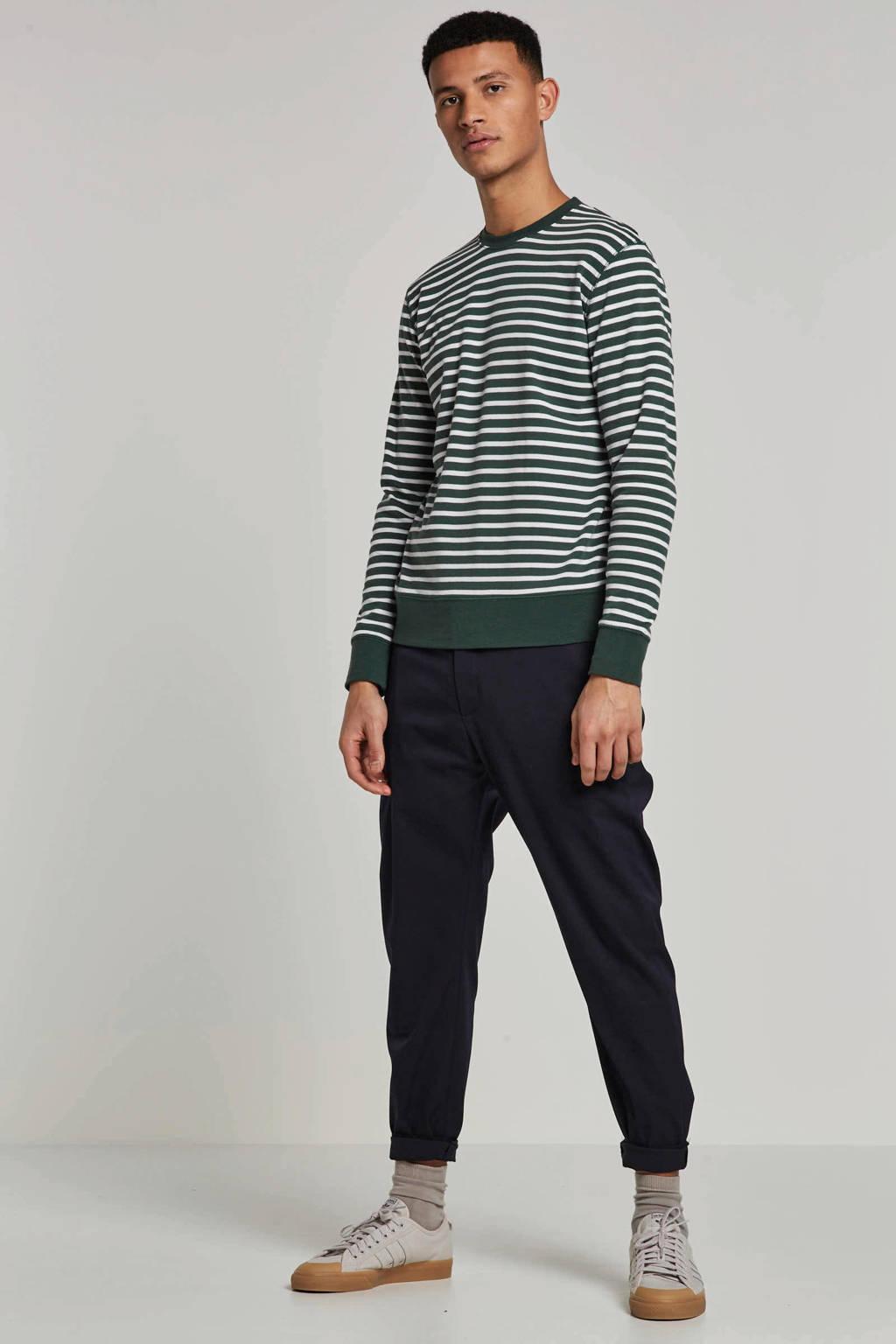 Matinique T-shirt lange mouw, Groen/wit