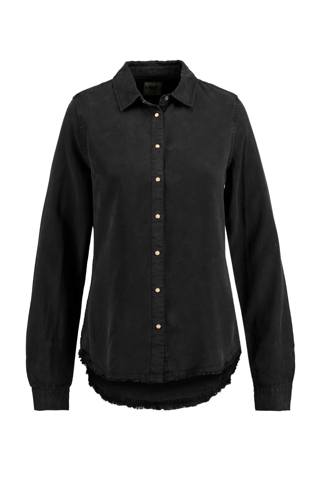 America Today tencel blouse zwart, Zwart