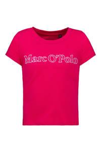 Marc O'Polo T-shirt met logo fuchsia, Fuchsia
