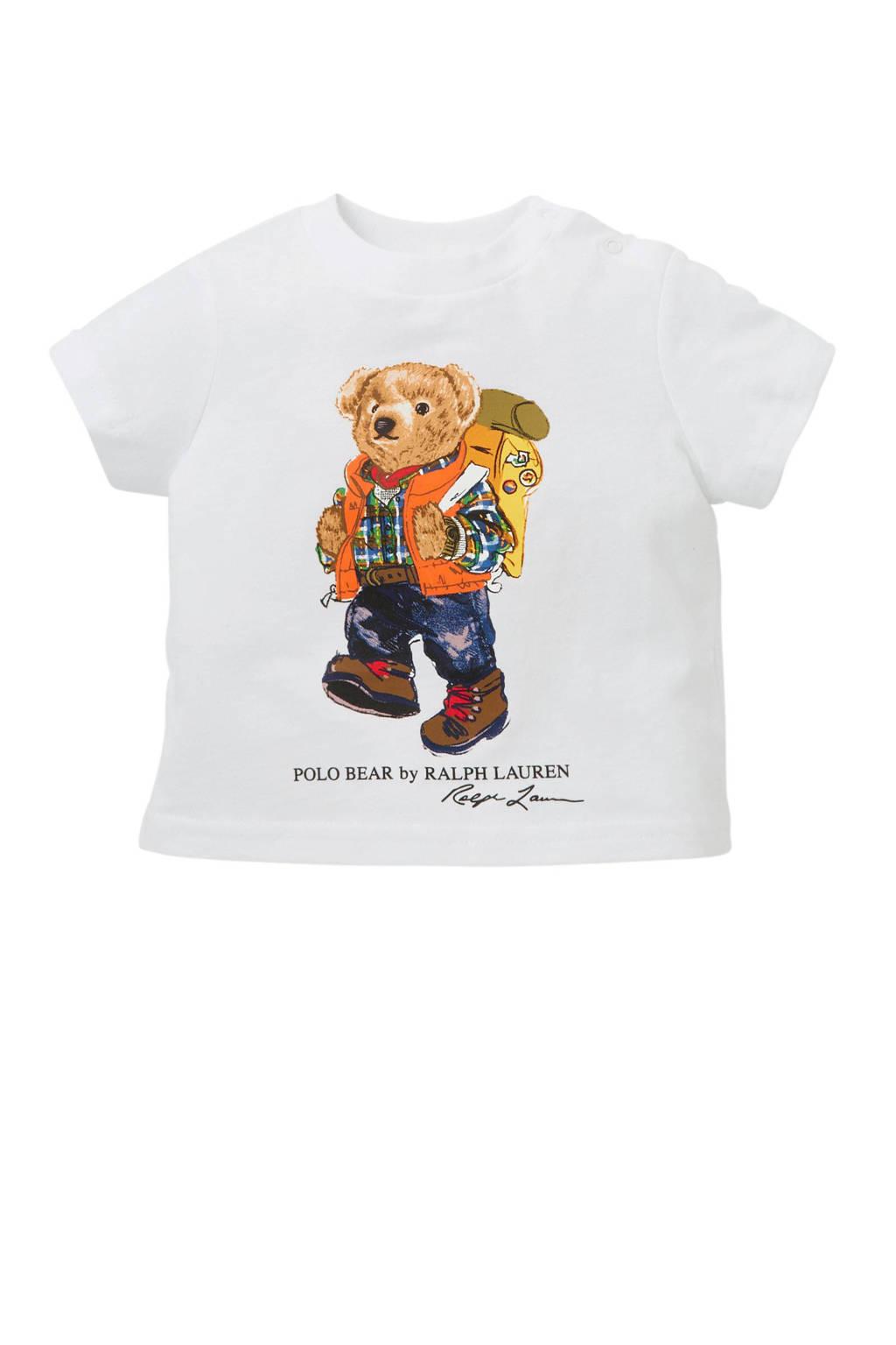 POLO Ralph Lauren baby T-shirt met print wit, Wit