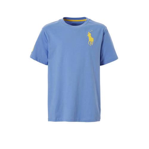 POLO Ralph Lauren T-shirt met logo borduursel lavendel kopen