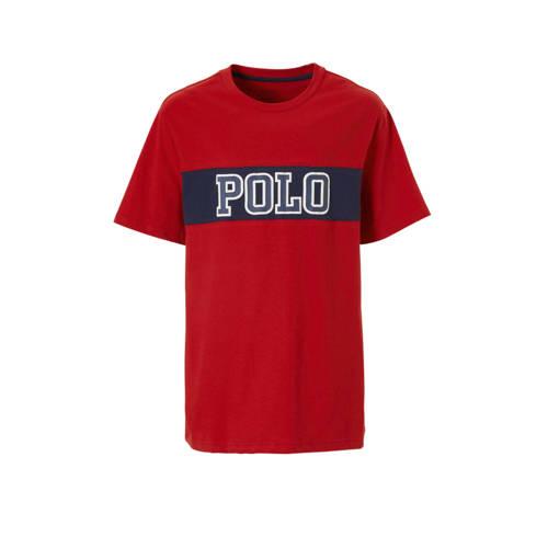 POLO Ralph Lauren T-shirt met tekst rood kopen
