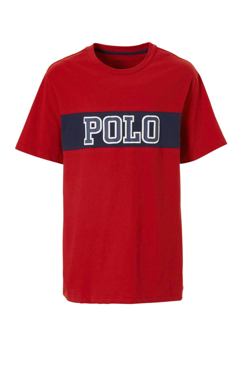 POLO Ralph Lauren T-shirt met tekst rood, Rood/blauw