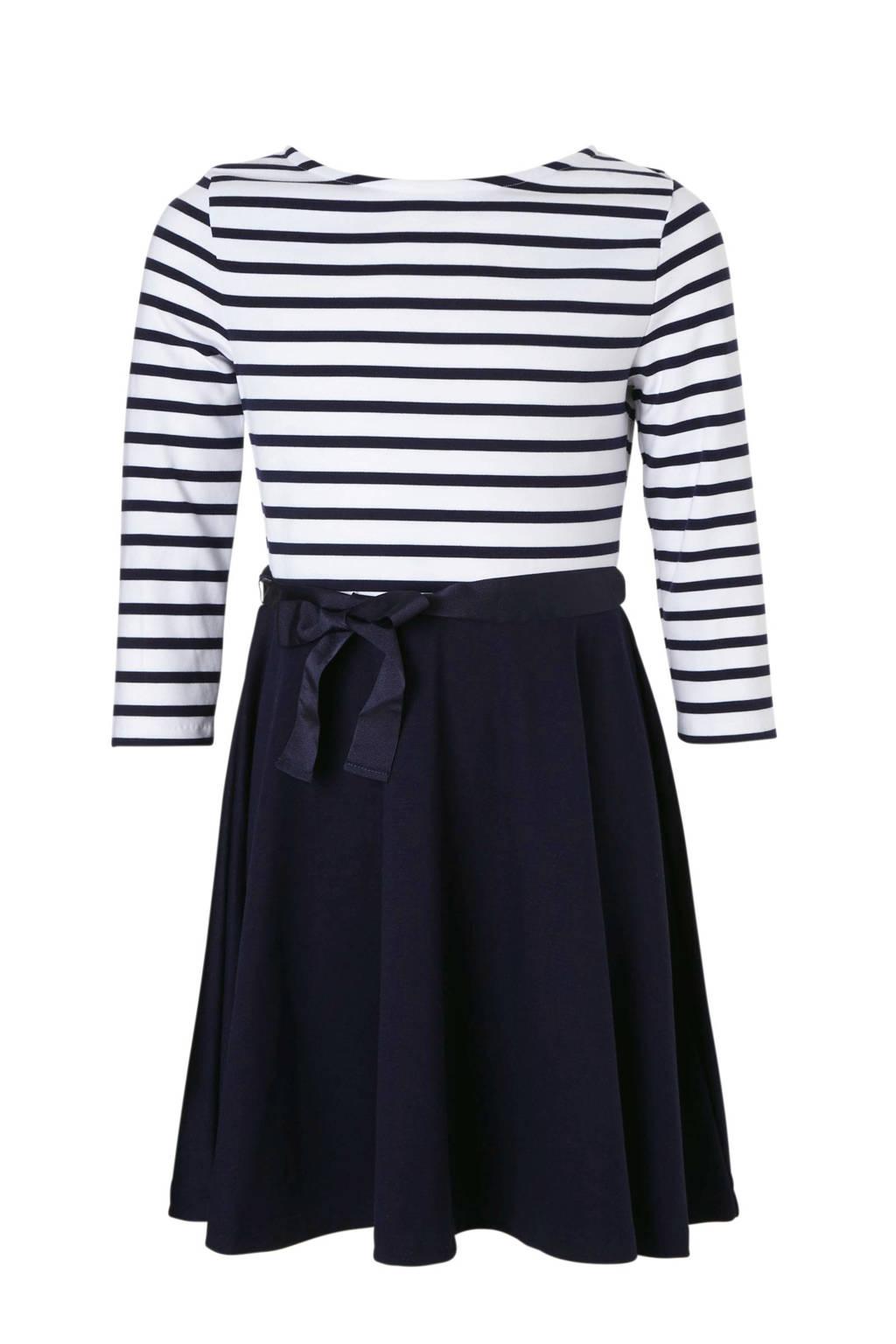 POLO Ralph Lauren gestreepte jurk blauw, Donkerblauw/wit