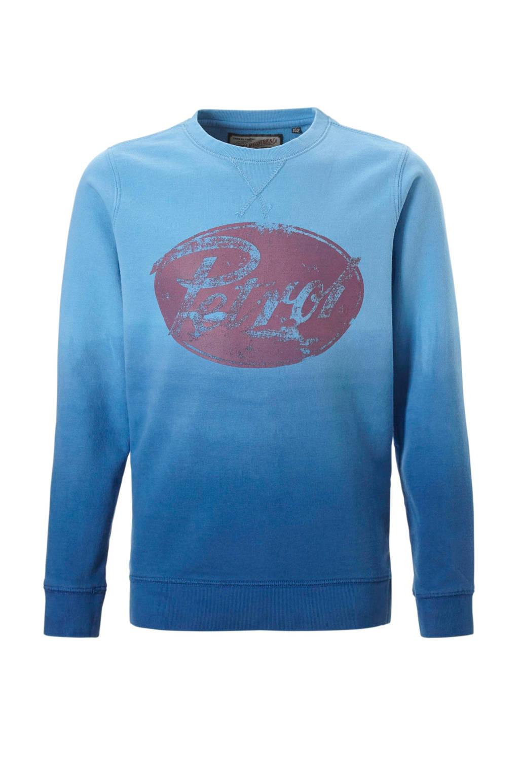 Petrol Industries sweater met logo blauw, Blauw