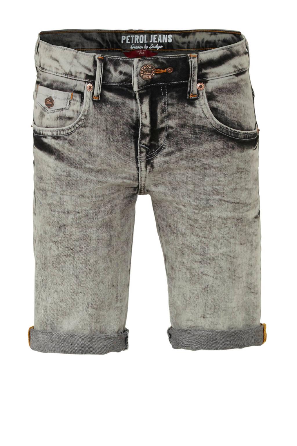 Petrol Industries slim fit jeans bermuda, Grijs