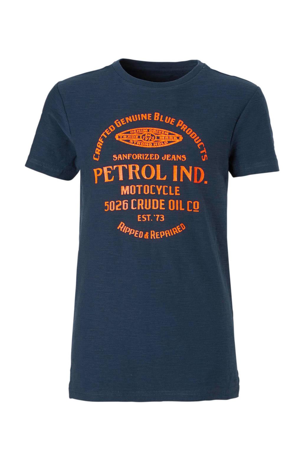 Petrol Industries T-shirt met print donkerblauw, Donkerblauw