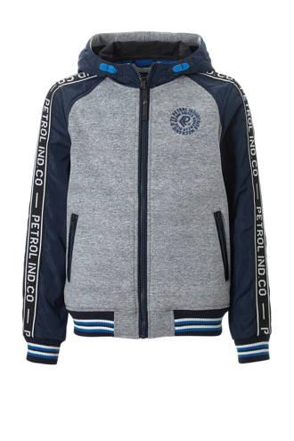 zomerjas donkerblauw/grijs