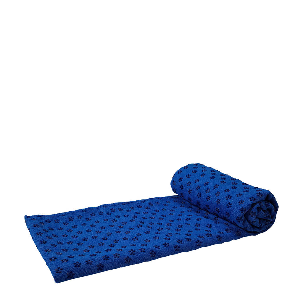 Tunturi  Silicone Yoga handdoek / Yogamat met anti-slip blauw, Blauw