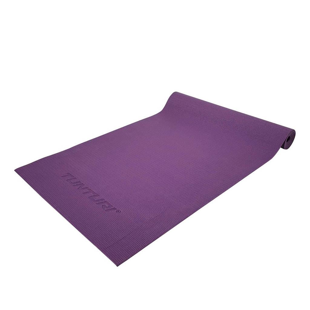Tunturi  PVC Yogamat - Fitnessmat 4 mm, Paars
