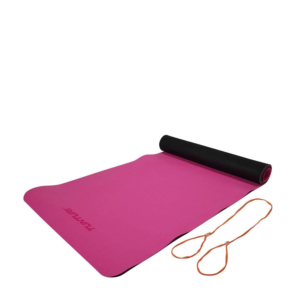 Tunturi  TPE Yogamat - Fitnessmat 4 mm, Roze
