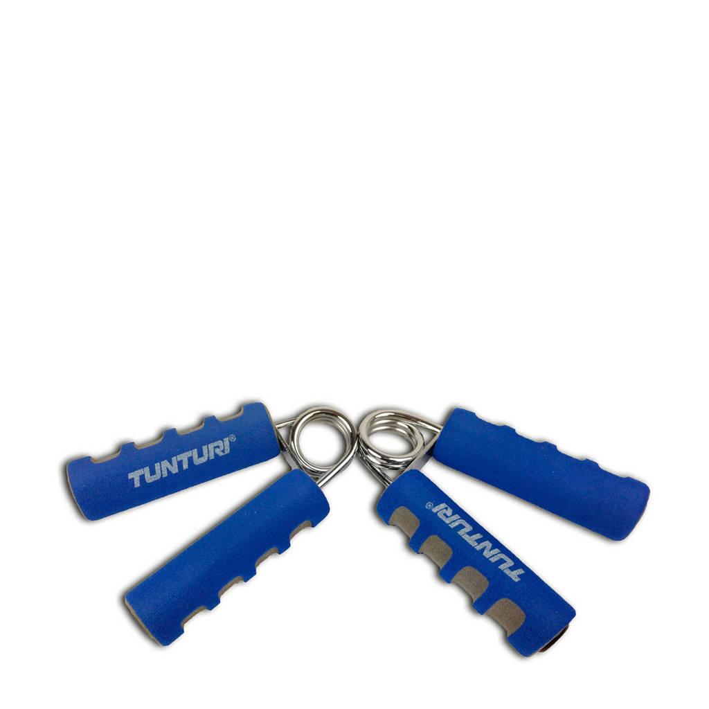 Tunturi Foam Knijphalters - Handknijper  (set van 2), Blauw/grijs