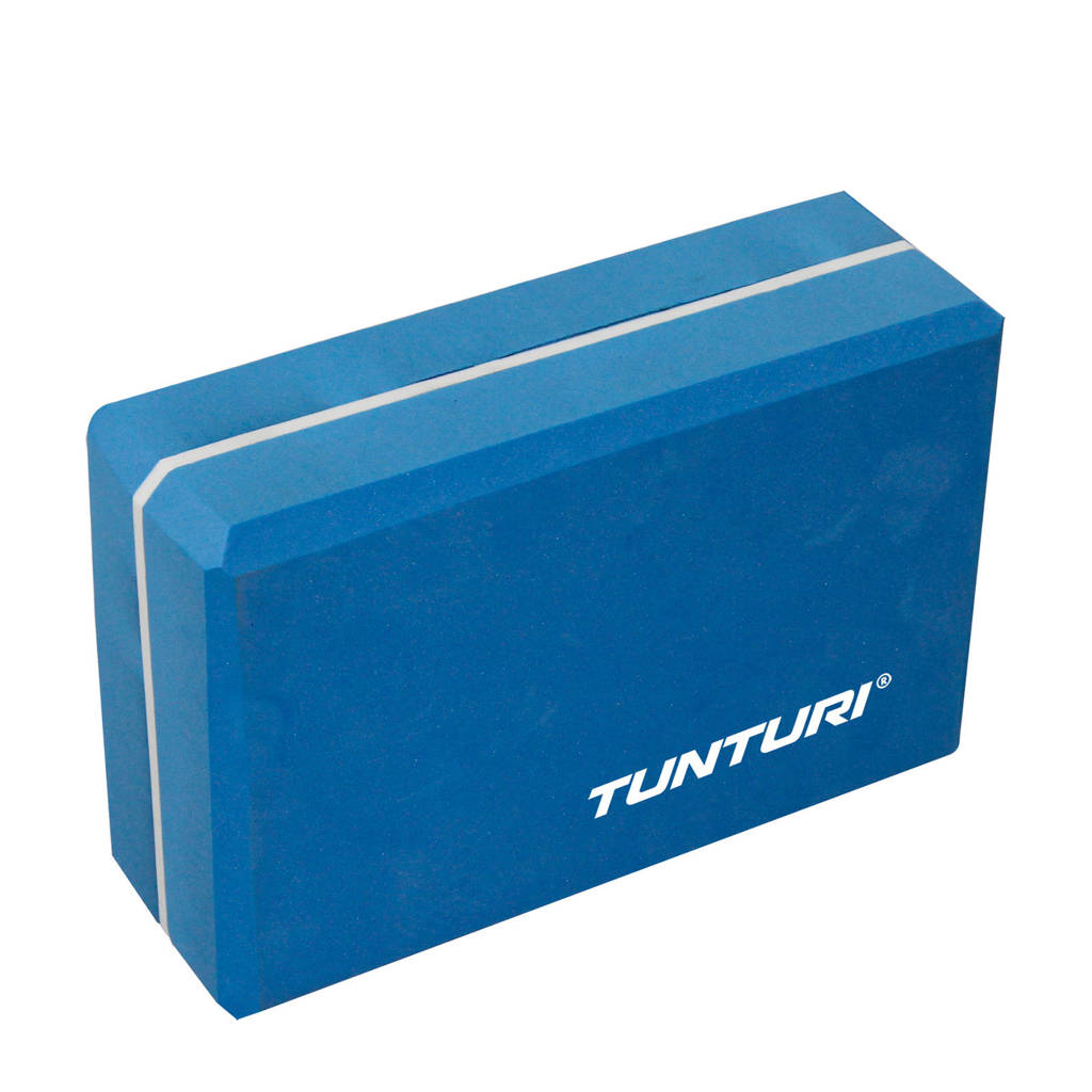 Tunturi  Yoga Blok - Blauw/Wit, Blauw/wit