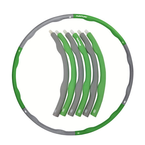 Tunturi Fitness Hoelahoep - 1,5 kg - Groen/Grijs kopen