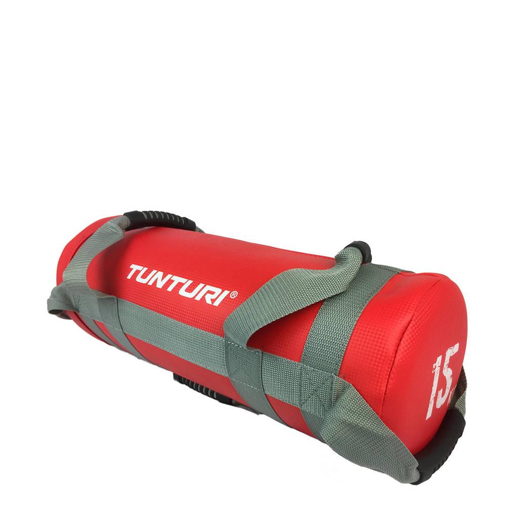 Tunturi Strengthbag /Fitnessbag - 15 kg - Zwart, Rood