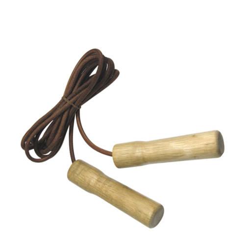 Tunturi Lederen Springtouw met houten handgrepen kopen
