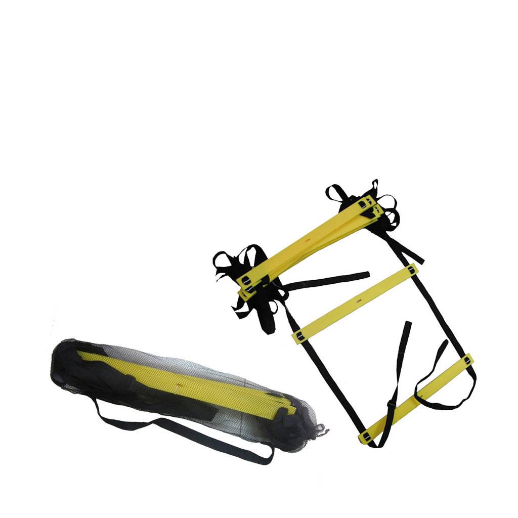 Tunturi Speed ladder - Fitness ladder (4.5 m), Zwart/geel