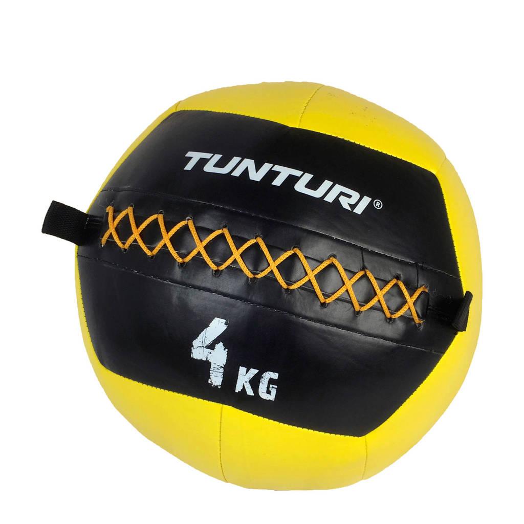 Tunturi Wall Ball - Medicine ball - 4kg - Geel