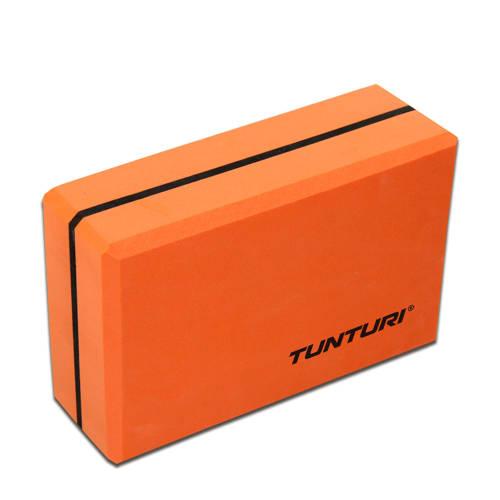 Tunturi Yoga Blok - Oranje/zwart kopen