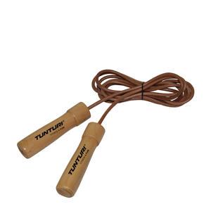 Lederen Springtouw met houten handgrepen