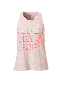 Superdry Sport sporttop roze (dames)