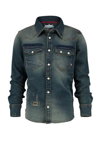 denim overhemd Leonard indigo blauw