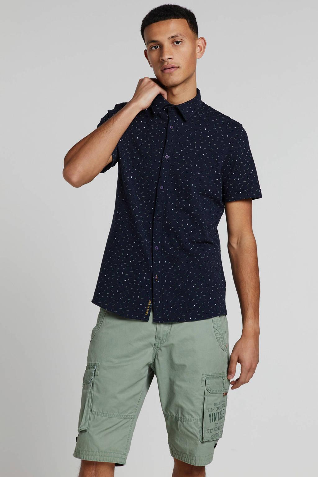 New in Town overhemd donkerblauw, Donkerblauw
