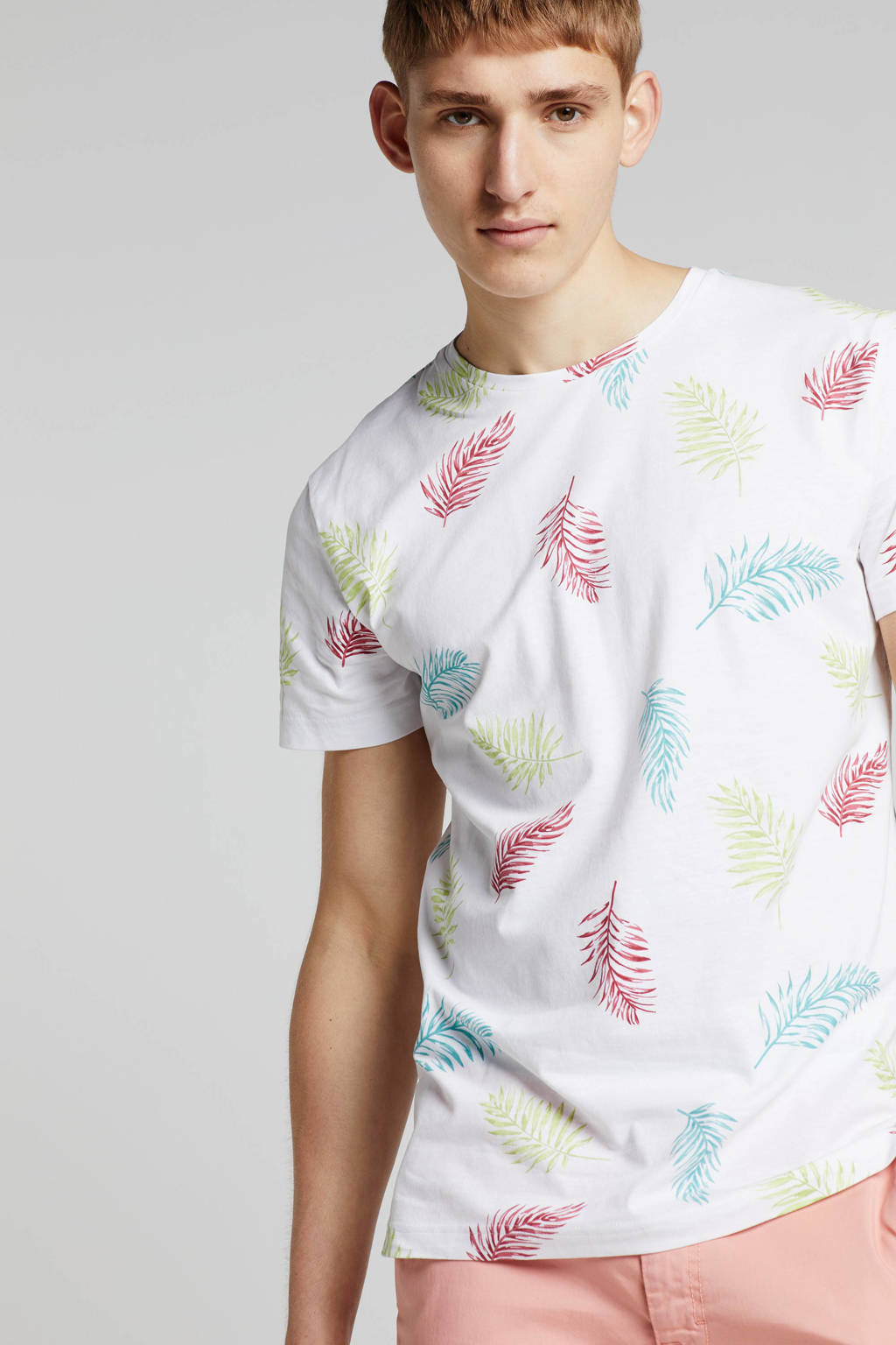 New in Town T-shirt met all over print, Wit