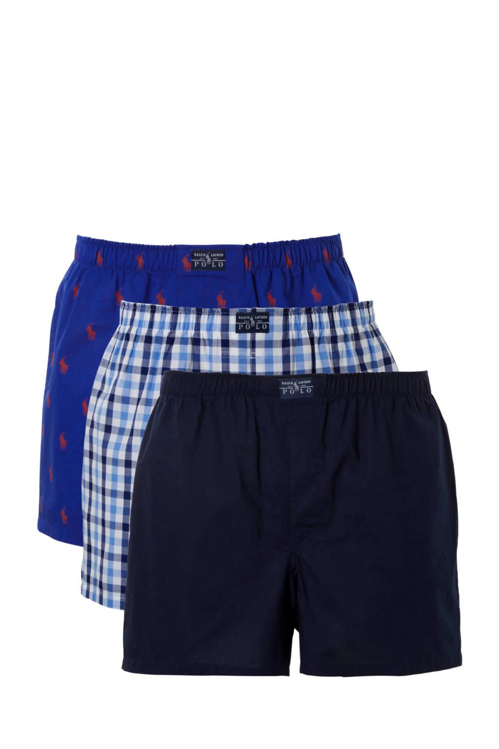 POLO Ralph Lauren boxershort (set van 3), Donkerblauw/blauw/wit