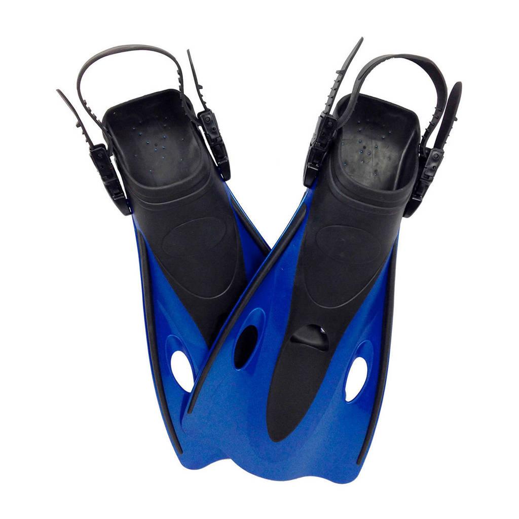 Tunturi Emotion - Verstelbare Zwemvliezen - maat 42-47, Blauw/zwart
