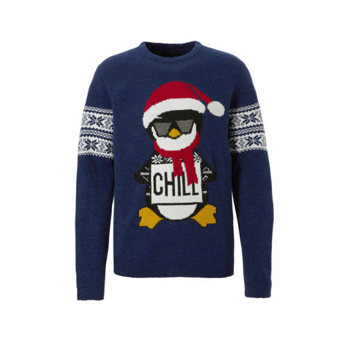 C&A Angelo Litrico kersttrui donkerblauw