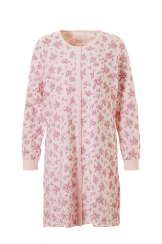 nachthemd in all over print roze