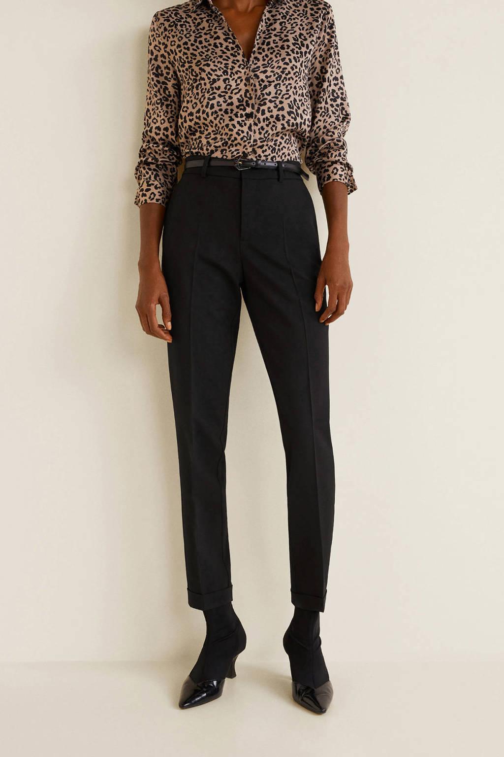 Mango pantalon zwart, Zwart