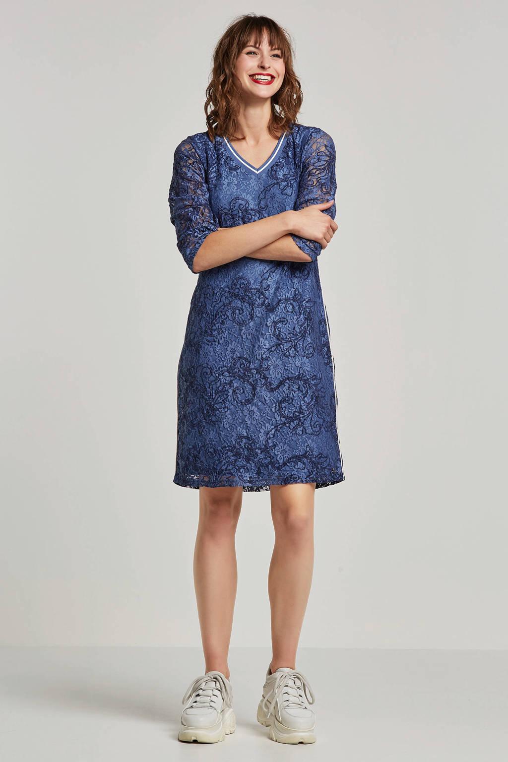Tramontana kanten jurk blauw, Blauw