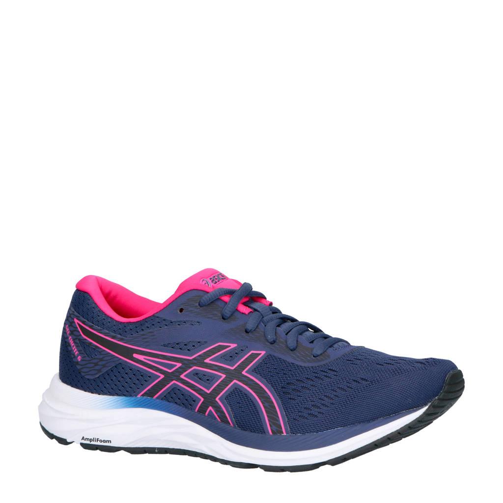 ASICS   Gel-Excite 6 hardloopschoenen blauw/roze, Blauw/roze