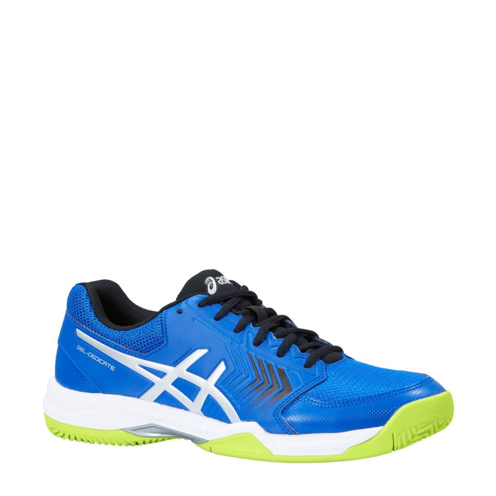 ASICS Gel-dedicate 5 clay tennisschoenen blauw/limegroen, Kobaltblauw/limegroen