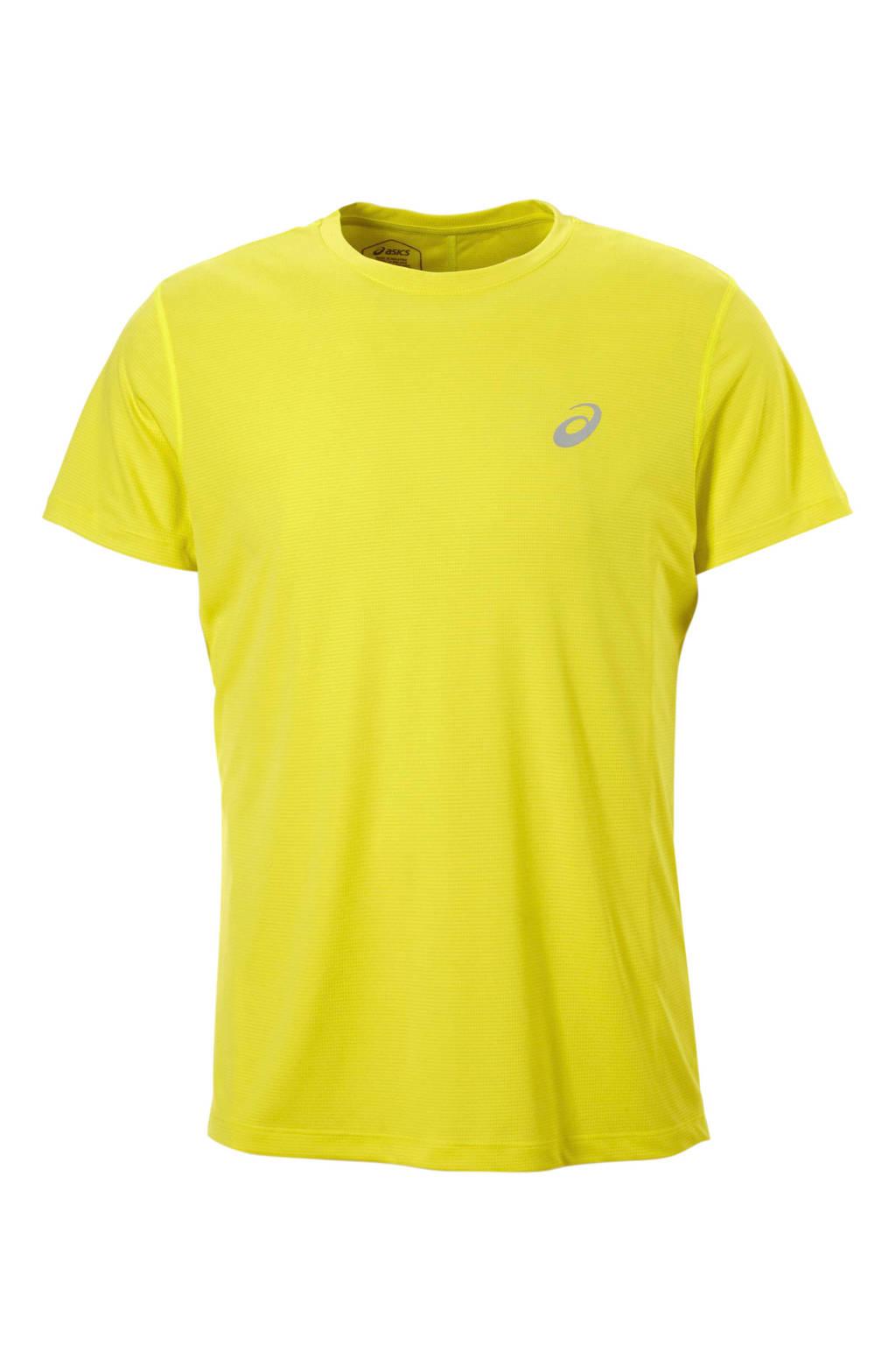 ASICS   sport T-shirt geel, Geel