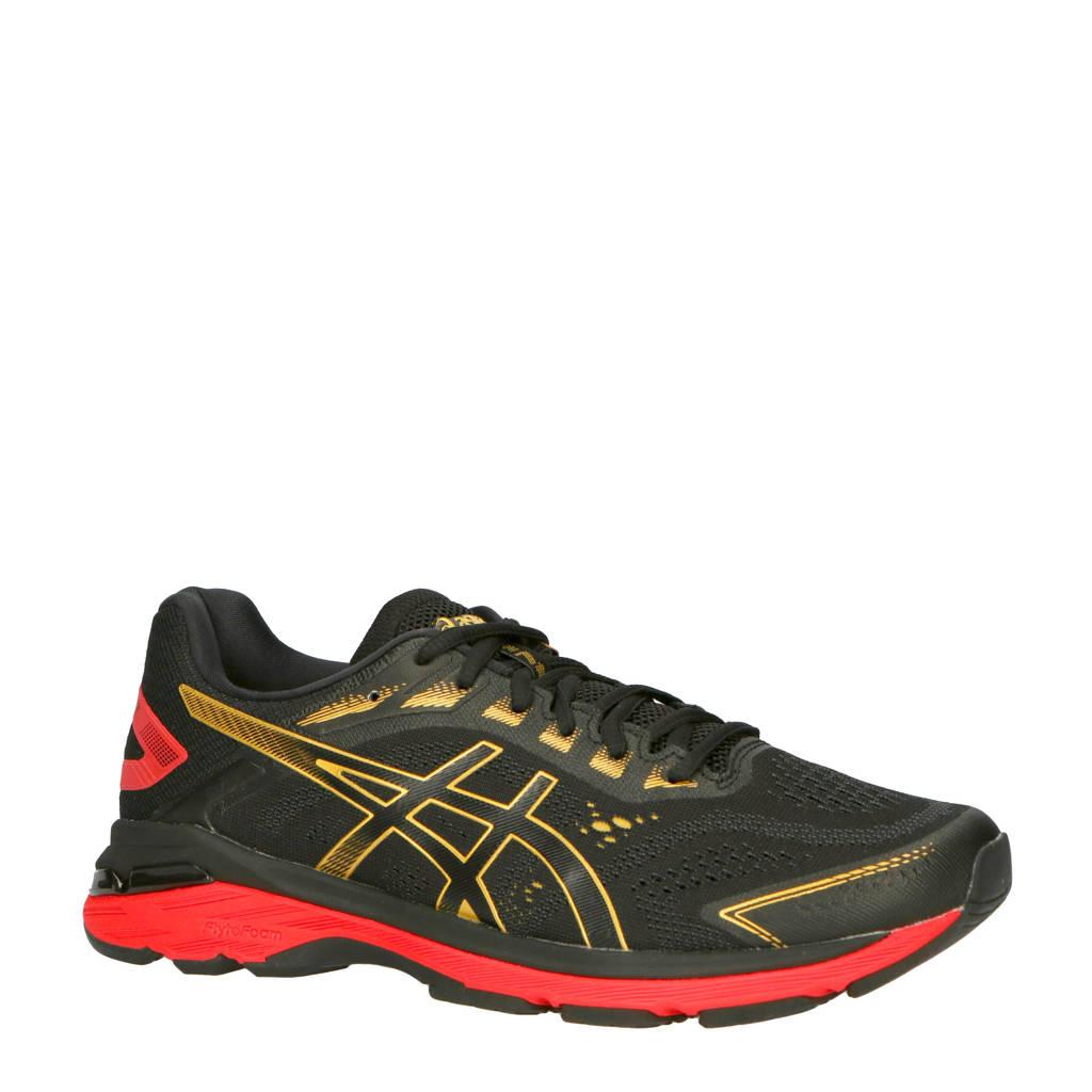 ASICS   GT 2000 7 hardloopschoenen, Zwart/rood/goud