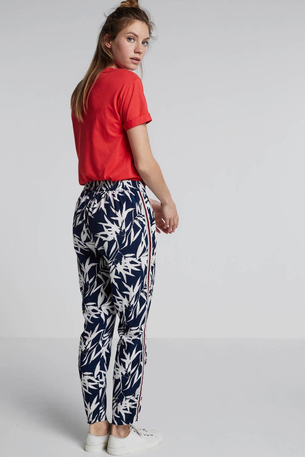 whkmp's beachwave broek met print en zijnaadbies, Blauw/ecru