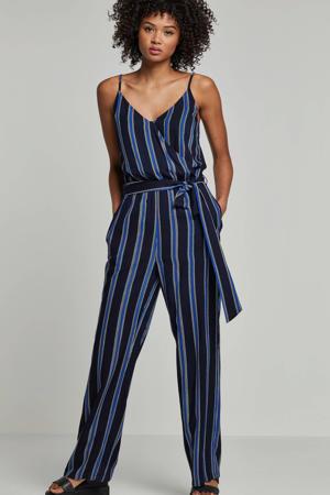 jumpsuit donkerblauw/blauw/ecru