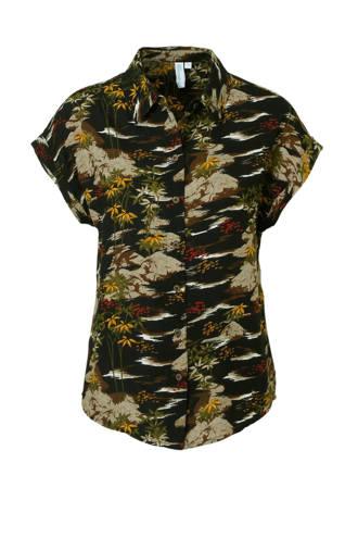 blouse met palmenprint