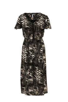 jurk met print en ladderkant