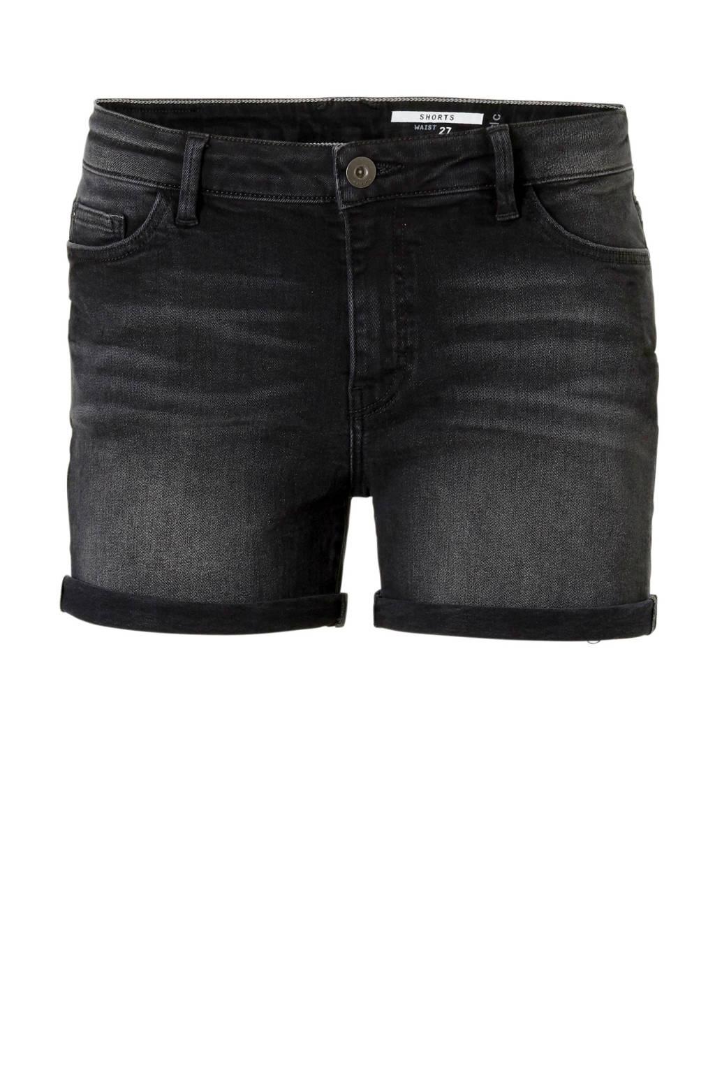 edc Women jeans short zwart, Zwart