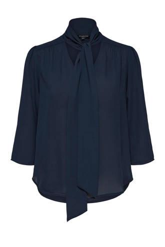 blouse met strikdetail