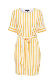 gestreepte jurk geel