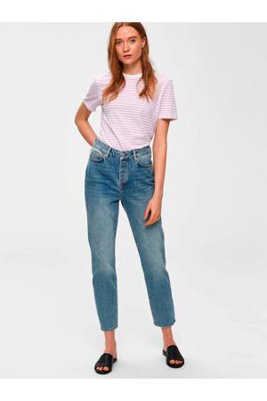 straight fit jeans van biologisch katoen blauw